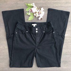 Boston Proper Slim Boot Cut Black Jeans EUC Size 8